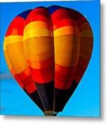 Orange Stipped Hot Air Balloon Metal Print