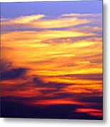 Orange Sunset Sky Metal Print