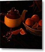 Orange Tea With Spices Metal Print