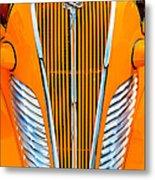 Orange Terraplane Metal Print
