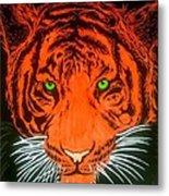 Orange Tiger Metal Print