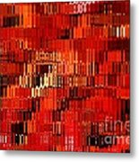 Orange Under Glass Abstract Metal Print