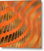Orange Wave Metal Print