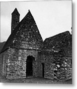 Oratory Known As St Kevins Kitchen Glendalough Monastery County Wicklow Republic Of Ireland Metal Print