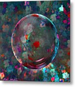 Orbed In Spring Blossom Metal Print