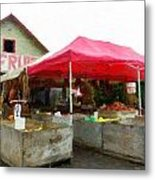 Orchard Fruit Stand Metal Print