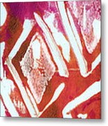 Orchid Diamonds- Abstract Painting Metal Print
