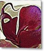 Orchid Facing Up Metal Print
