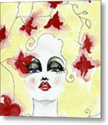 Orchid Lady Metal Print