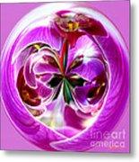 Orchid Orb I Metal Print