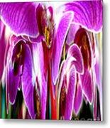 Orchid Splat Metal Print