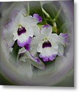 Orchid Wine Swirl Metal Print