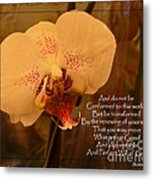 Orchid With Verse Metal Print