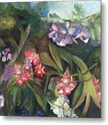 Orchids I Metal Print by Susan Hanlon