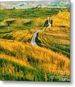 Orcia Valley Metal Print