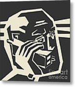 Order Over The Phone Metal Print