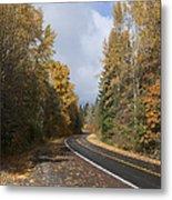 Oregon Autumn Highway Metal Print