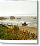 Oregon Beach Metal Print