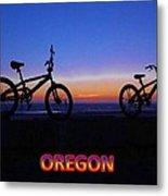 Oregon Bikes Metal Print