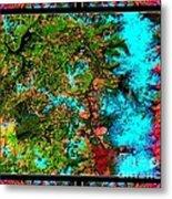 Oregon Cascades Nasa Satellite Metal Print