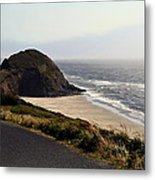 Oregon Coast And Fog Metal Print