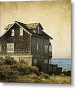 Oregon Coast Beach House Metal Print