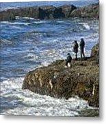 Oregon Coast Fishermen Metal Print