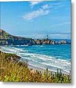 Oregon Coast Lighthouse Metal Print