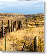 Oregon Corral Metal Print