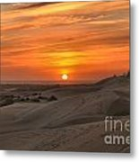 Oregon Dunes Sunset Metal Print