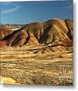 Oregon Painted Landscape Metal Print