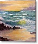 Oregon Seascape Metal Print