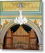 Organ And Ceiling Metal Print