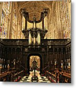 Organ And Choir - King's College Chapel Metal Print