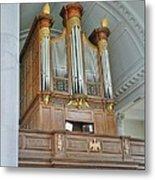 Organ At Westminster Metal Print