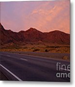 Organ Mountain Sunrise Highway Metal Print by Mike  Dawson