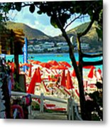 Orient Beach Peek Metal Print