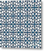 Orient Blue And White Interlude Metal Print