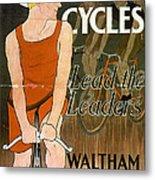 Orient Cycles Vintage Bicycle Poster Metal Print