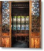Orient - Door - The Temple Doors Metal Print