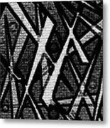 Oriental Abstract Metal Print