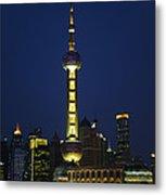 Oriental Pearl Tower, Shanghai Metal Print