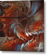 Oriental Sumptuousness-floral Fractal Design Metal Print by Karin Kuhlmann