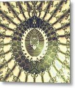 Oriental Sun Abstract Art Metal Print