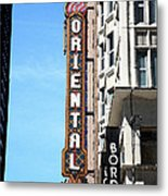 Oriental Theater With Watercolor Effect Metal Print