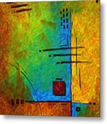 Original Abstract Painting Digital Conversion For Textured Effect Resonating IIi By Madart Metal Print