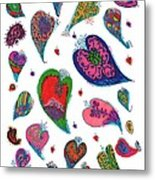 Original Hearts Metal Print