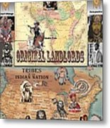 Original Landlords Poster African And Native American Metal Print