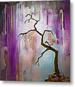 Original Painting Expressionist Contemporary Tree Art Metal Print
