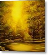 Green Forest Glow-original Sold- Buy Giclee Print Nr 35 Of Limited Edition Of 40 Prints  Metal Print